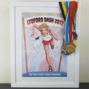 Personalised Runner Girl Print