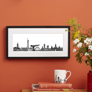 Glasgow Skyline Screen Print