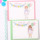 Personalised Girl Thank You Cards