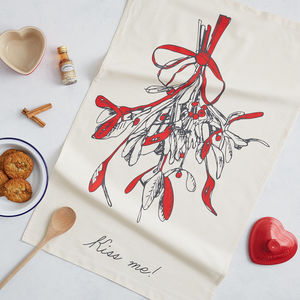 Mistletoe Tea Towel - kitchen accessories