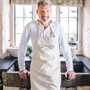 Personalised Wheatsheaf Cotton Kitchen Apron