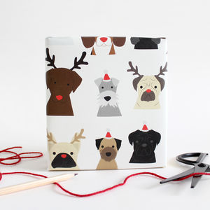 Christmas Dog Wrapping Paper - cards & wrap