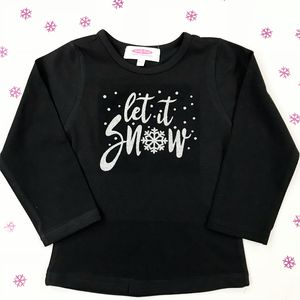 'Let It Snow' Gliitter Long Sleeve T Shirt
