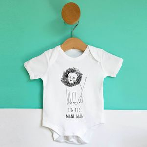 'Mane Man' Baby Grow - baby shower gifts & ideas