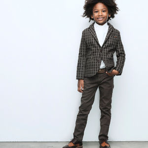 Wool Blend Occasion Jacket For Boys