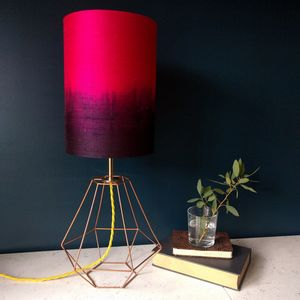 Pink Silk Ombre Table Lamp - dining room