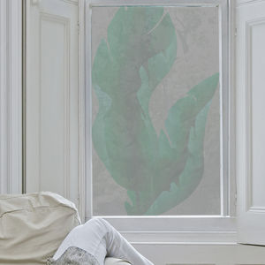 Large Tropical Leaves Window Film - window film