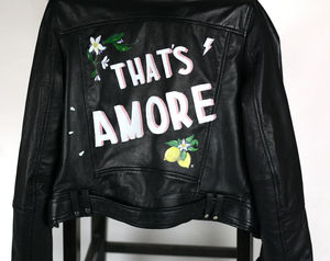Customised Painting Onto Bespoke Leather Jacket - view all new