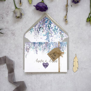 'Whimsical Winter' Concertina Fold Wedding Invitation