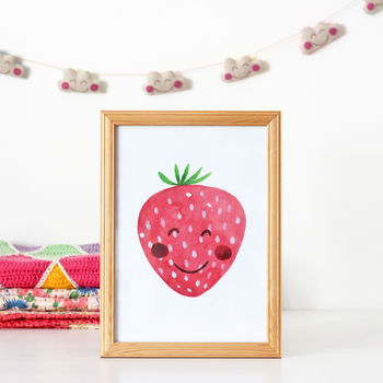 Strawberry Nursery Print