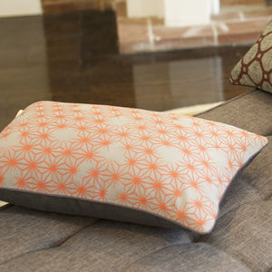 Stylish Vintage Silk Atomic Print Cushion Cover