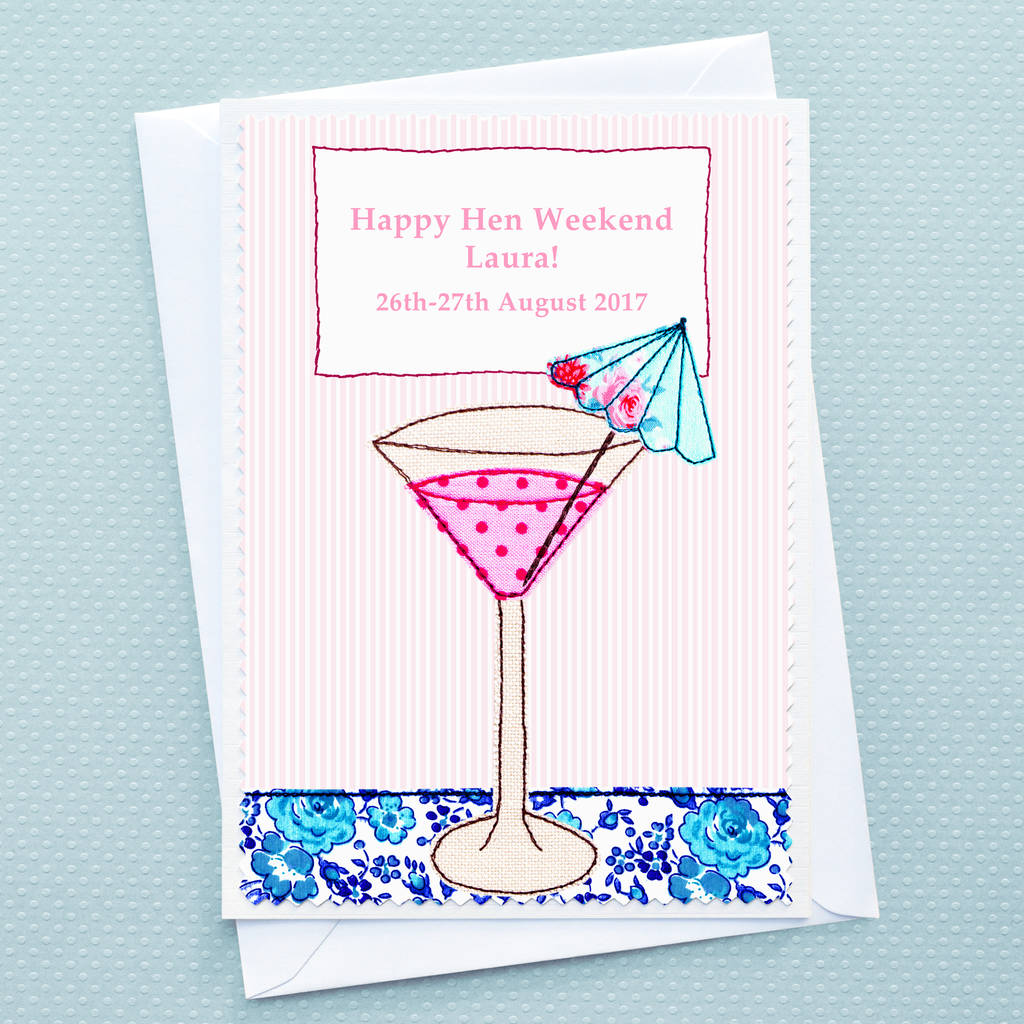 personalised hen party card by jenny arnott cards & gifts ...