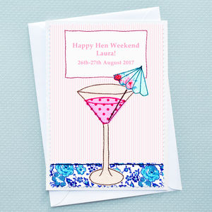 Personalised Hen Party Card