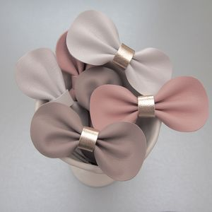Girls Lux Leather Bow Hair Clip / Fondants
