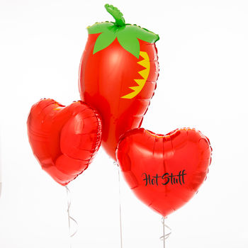Inflated Personalised Hot Stuff Foil Balloons