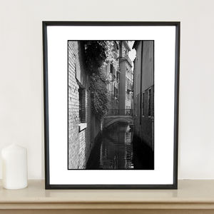 Bridge Over Canal, Venice Photographic Art Print