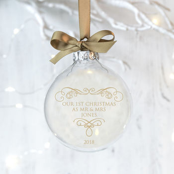 First Christmas As Married Couple Wedding Bauble