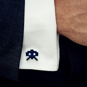 Stylish Space Invader Cufflinks