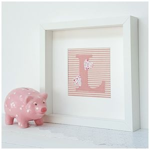 Personalised New Baby Fabric Initial Gift - baby's room