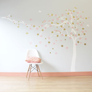 Floral Blossom Tree Wall Stickers - winter sale