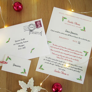 Personalised Letter From Santa And Gift Tag - gift tags & labels