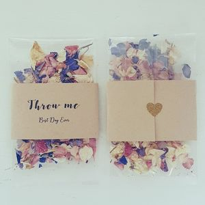 Pack Of 10 Confetti Envelopes With Real Petals - confetti, petals & sparklers