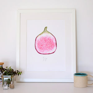 A3 Watercolour Fig Print