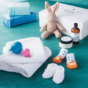 Create Your Own Neutral New Baby Organic Gift Box - baby shower gifts & ideas