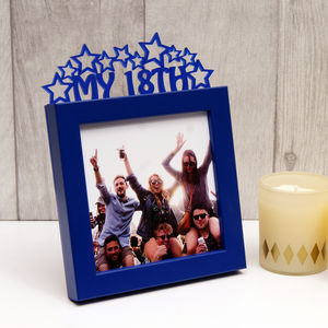 'My 18th' Birthday Mini Photo Frame - picture frames