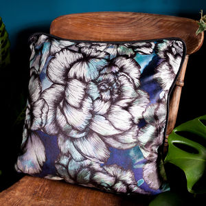 Peony Floral Velvet Cushion - new in home