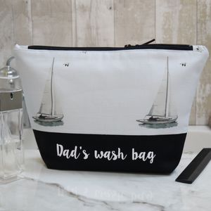 Personalised Sailing Boat Wash Bag