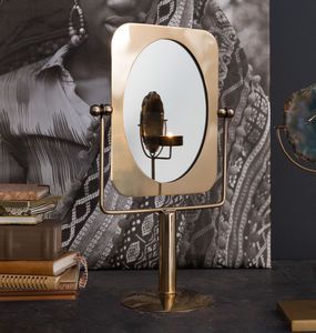 Brass Table Vanity Mirror