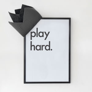 'Play Hard' Print - baby's room