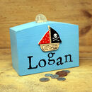 Personalised Money Box Pirate Ship