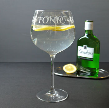 Gin And Tonic Cocktail Glass