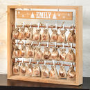 Personalised Wooden Christmas Advent Calendar