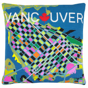 Contemporary Vancouver City Map Tapestry Kit