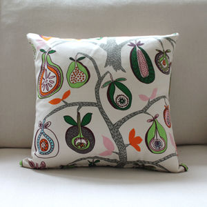 Organic Cotton Fruit Tree Cushion - patterned cushions