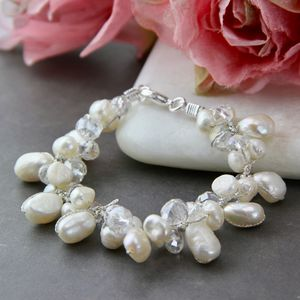 Freshwater Pearl And Crystal Bracelet