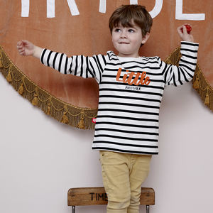 Little Brother Striped T Shirt - clothing