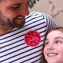 Personalised Patch Christmas Breton Tops Set