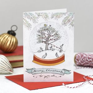 'To You All' Christmas Card - winter sale