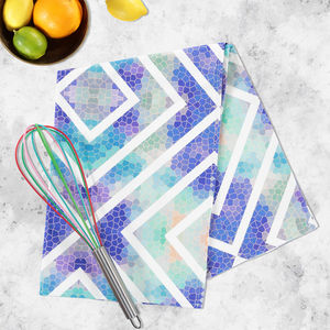 Wanderlust Azure Tea Towel - kitchen linen