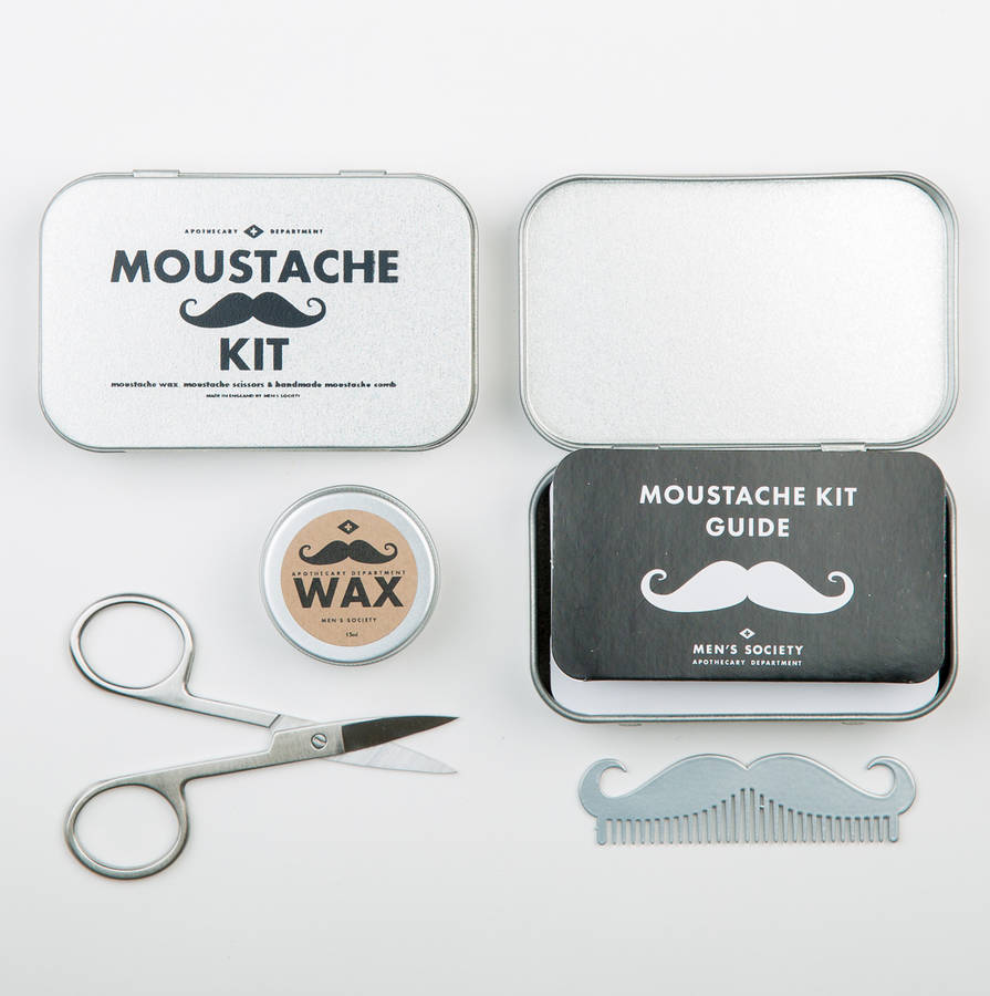 moustache grooming kit by men 39 s society. Black Bedroom Furniture Sets. Home Design Ideas