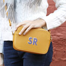 Personalised Initials Rectangular Crossbody Bag