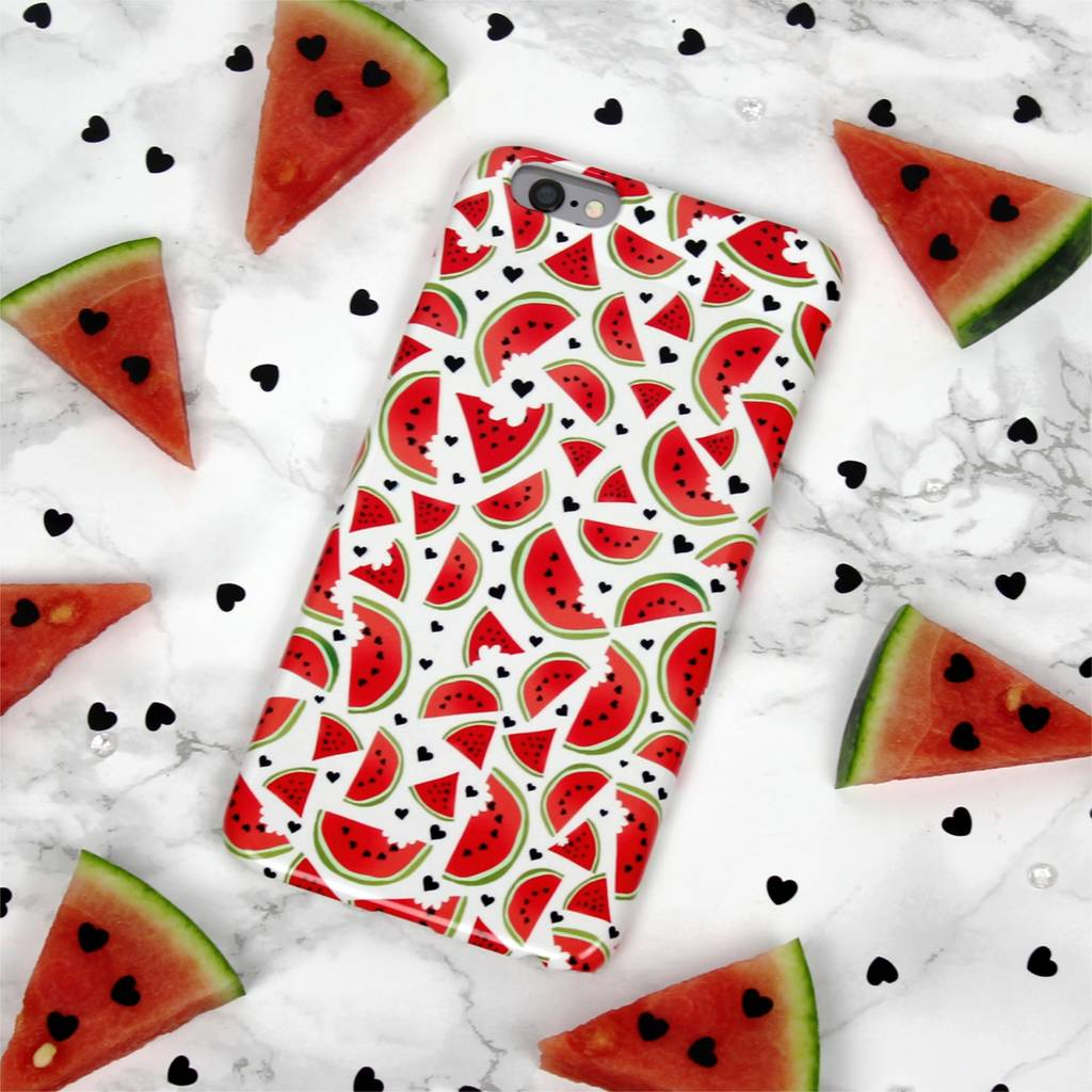 Watermelon Love Hand Drawn Summer Phone Case
