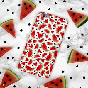 Watermelon Love Hand Drawn Summer Phone Case - womens