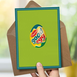 Best Friend Birthday Card 'Good Egg'