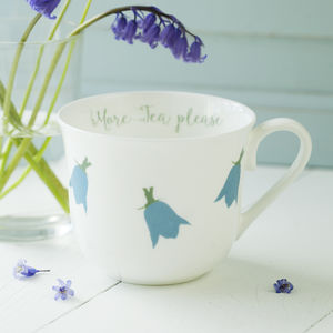 Bluebells Personalised China Breakfast Cup - crockery & chinaware