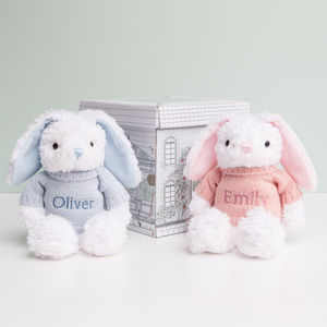 Personalised Baby Bunny - soft toys & dolls